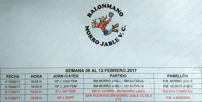 Cuadrante Partidos BM Morro Jable VC