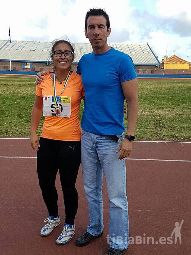 La atleta de Morro Jable Brenda Valeria Guevara se proclama Campeona de Disco y Subcampeona de Jabalina de Canarias