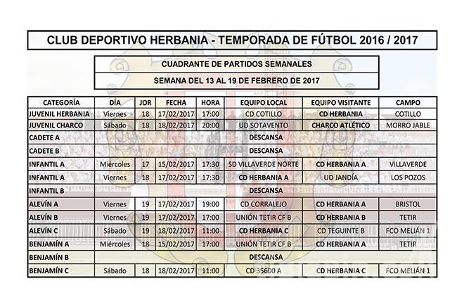 Cuadrante Partidos Fútbol CD Herbania