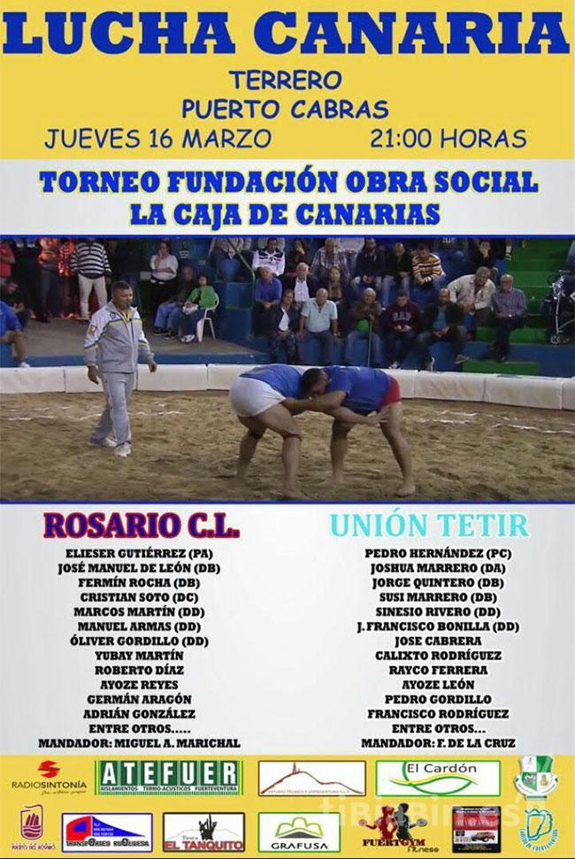 Cartel Lucha Canaria Rosario CL – CLU Tetir