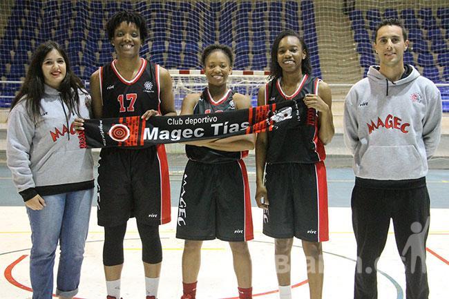 El CD Magec Tías presenta en sociedad a sus tres jugadoras americanas