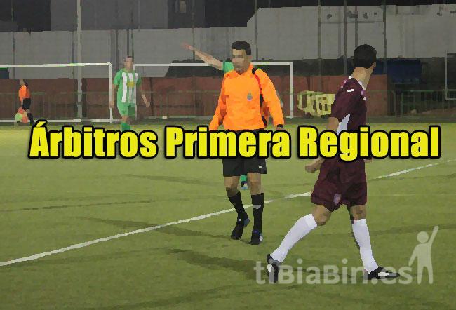 Árbitros 1ª Regional 19ª Jornada