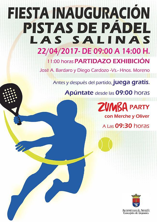 Deportes Arrecife inaugura este sábado las canchas de pádel de Las Salinas con un partido de exhibición