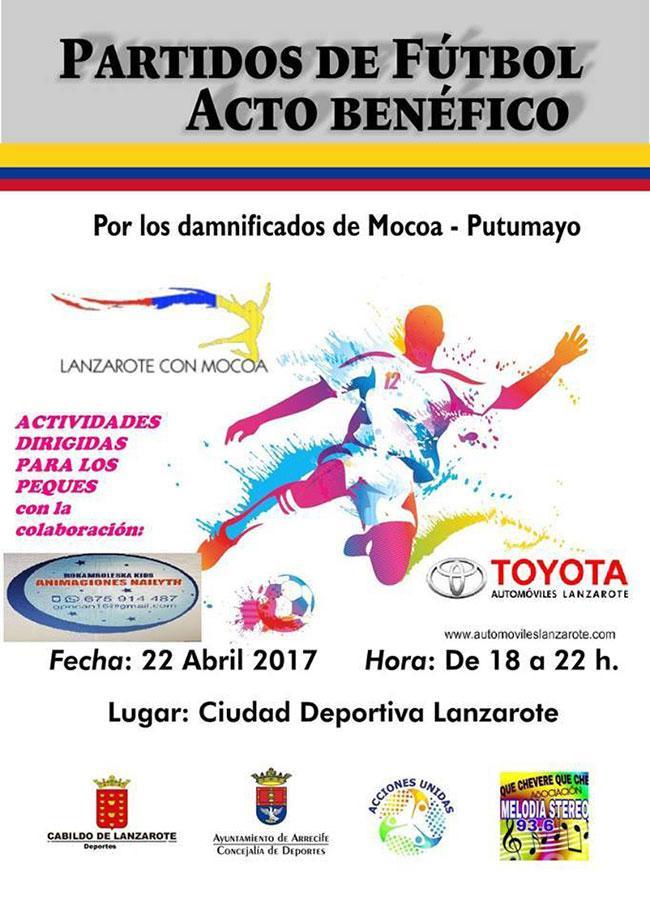 Deportes Arrecife colabora con Acciones Unidas de Lanzarote en los actos solidarios a beneficio de la población de Mocoa