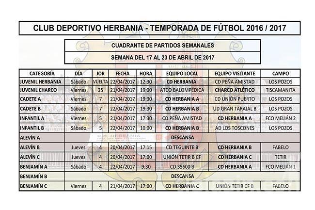 Cuadrante Fútbol CD Herbania