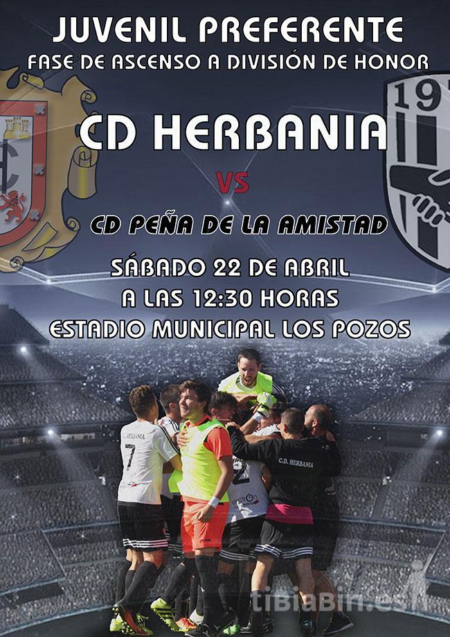 Cartel CD Herbania – CD Peña de La Amistad