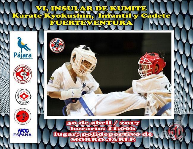 Un centenar de jóvenes karatecas compite este domingo en el VI Torneo Insular de Kumite Infantil y Cadete