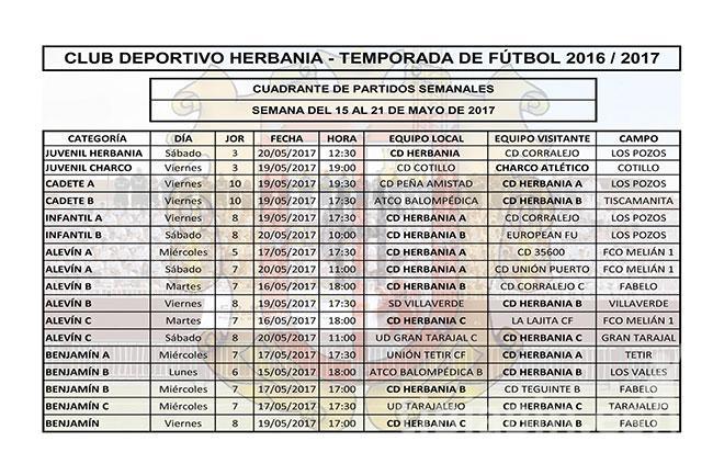 Cuadrante Partidos CD Herbania