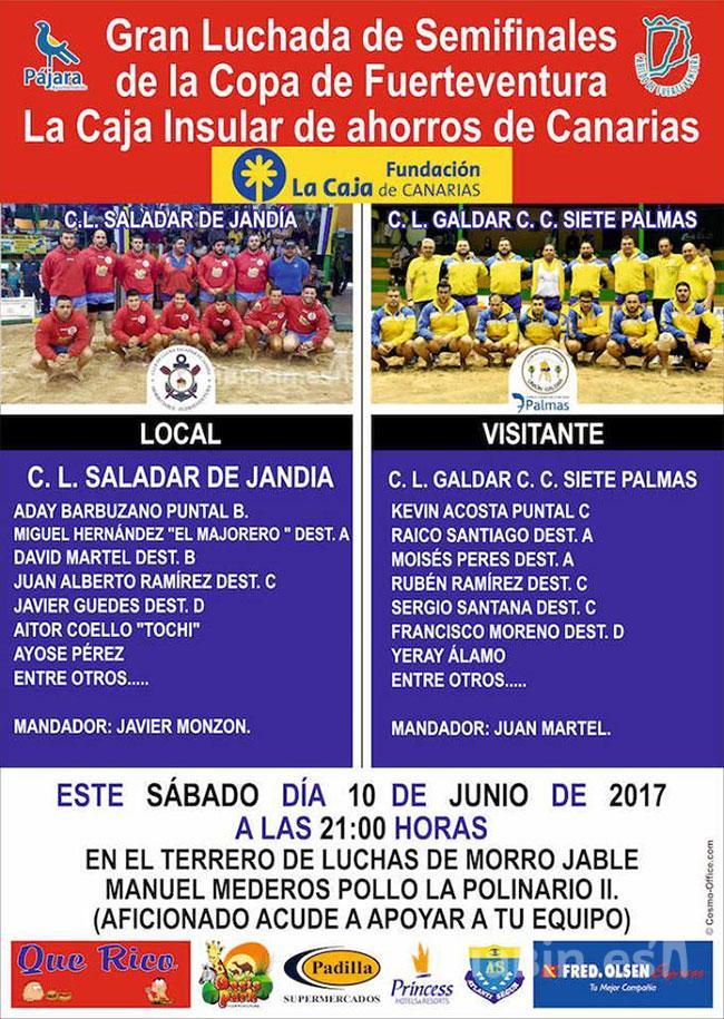 Gran luchada de semifinales de la Copa Caja de Canarias entre el C.L. Saladar de Jandía y C.L. Galdar