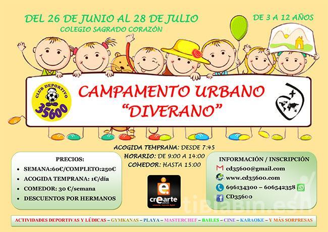 """Campamento de Verano """"DIVERANO"""" organizado por el CD35600"""
