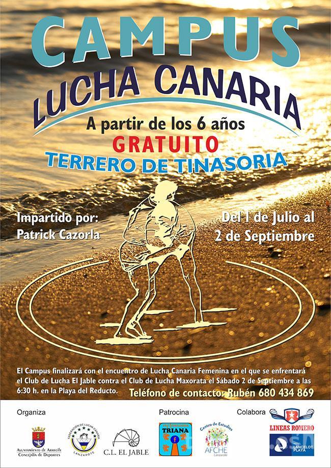 El lunes 12 de junio se presenta el I Campus de Lucha Canaria CL El Jable