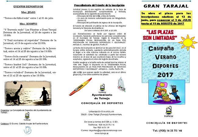 """""""Campaña Verano Deportes 2017"""""""