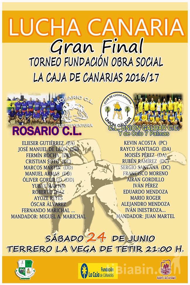 Cartel Rosario CL – CLU Gáldar CC