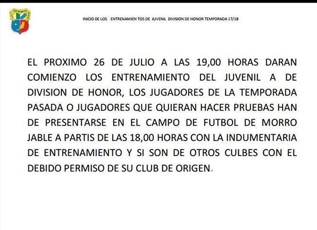 Nota de Prensa: UD Playas de Sotavento