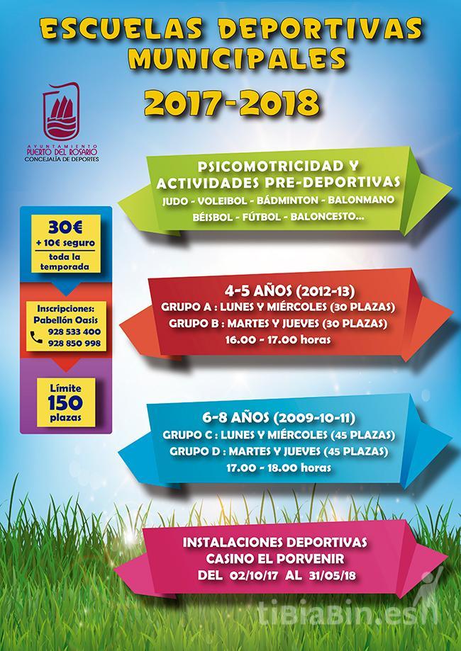 Cartel Escuela Deportivas Municipales 2017-2018