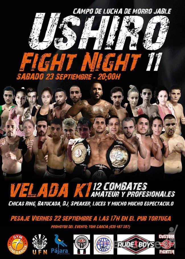 Lo mejor del K1 y el kick boxing se concentra este sábado en Morro Jable con   la XI Ushiro Fight Night