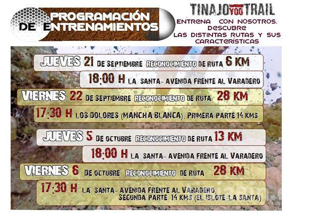 Comienzan los entrenamientos en los recorridos de la Tinajo YouTrail