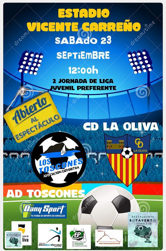 Cartel Juvenil Preferente AD Los Toscones – CD La Oliva