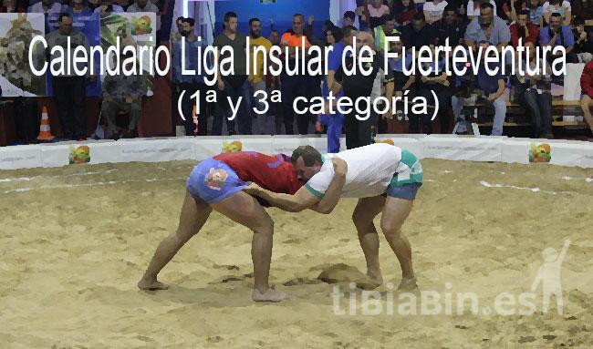 Calendario Liga Insular de Fuerteventura de 1ª y 3ª categoría