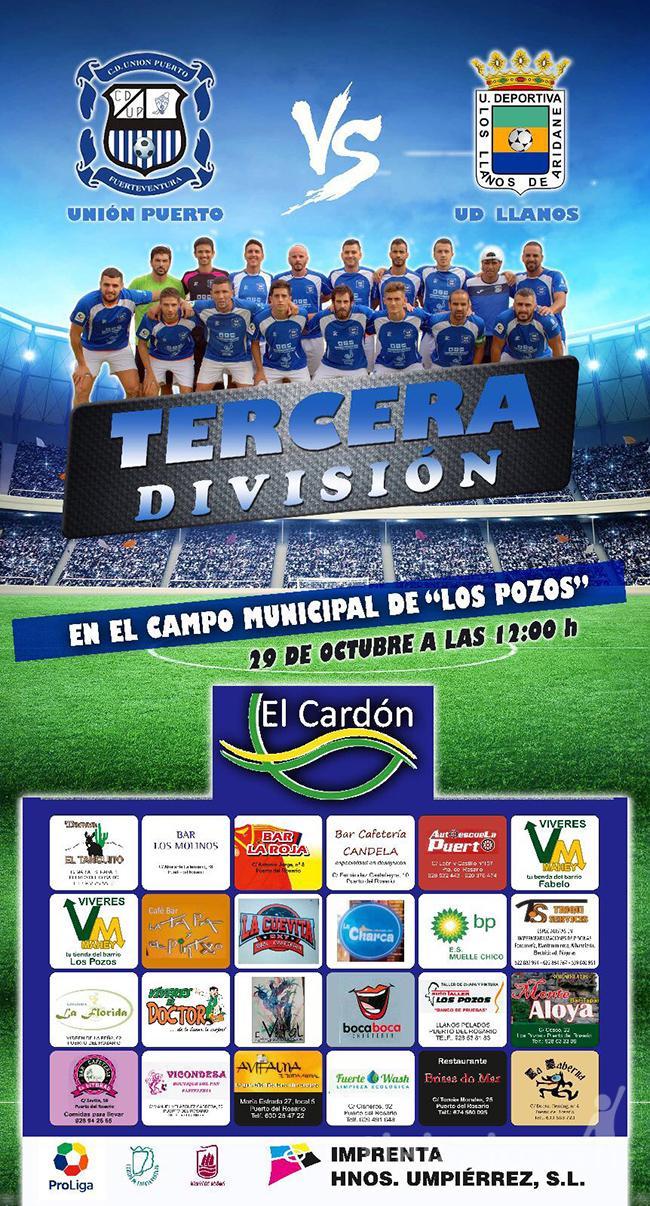 Cartel CD Unión Puerto – UD Llanos de Aridane