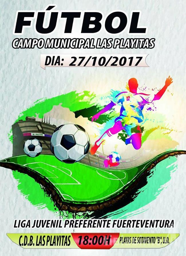 """Cartel CDB Las Playitas – UD Playas de Sotavento """"B"""" (Liga Juvenil Preferente)"""