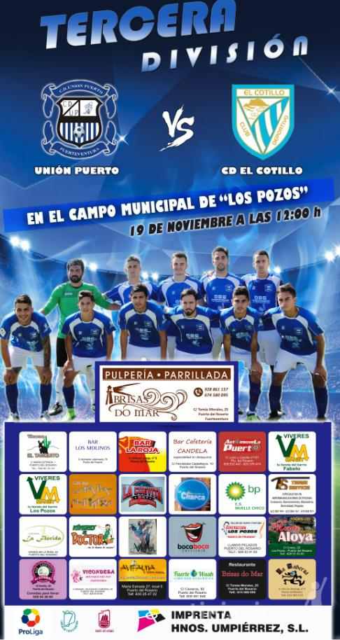 Cartel CD Unión Puerto – CD Cotillo