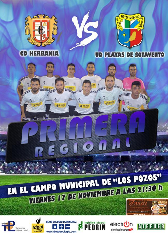 Cartel CD Herbania – UD Playas de Sotavento