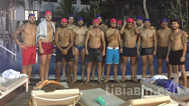 El Ca´Mario Lanzarote realiza un entrenamiento diferente en el Centro Deportivo Fariones