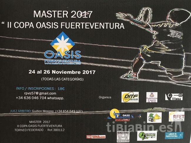 """Cartel II Copa Máster Oasis Fuerteventura"""""""