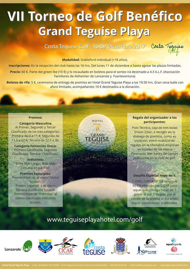 El Torneo Benéfico Grand Teguise Playa despide la International Golf Lanzarote Cup 2017