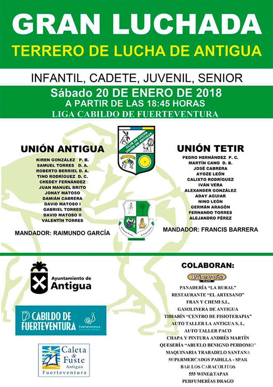 Cartel CL Unión Antigua – CL Unión Tetir