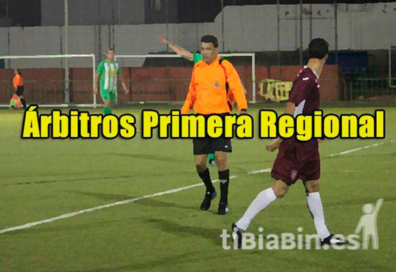 Árbitros 15ª Jornada 1ª Regional