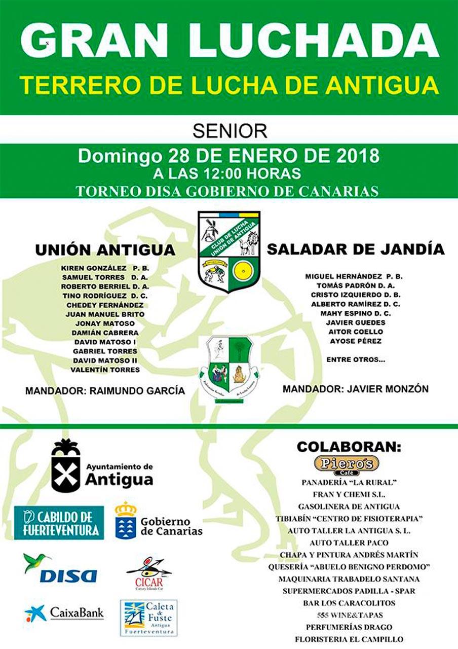 Cartel Unión Antigua – Saladar de Jandía