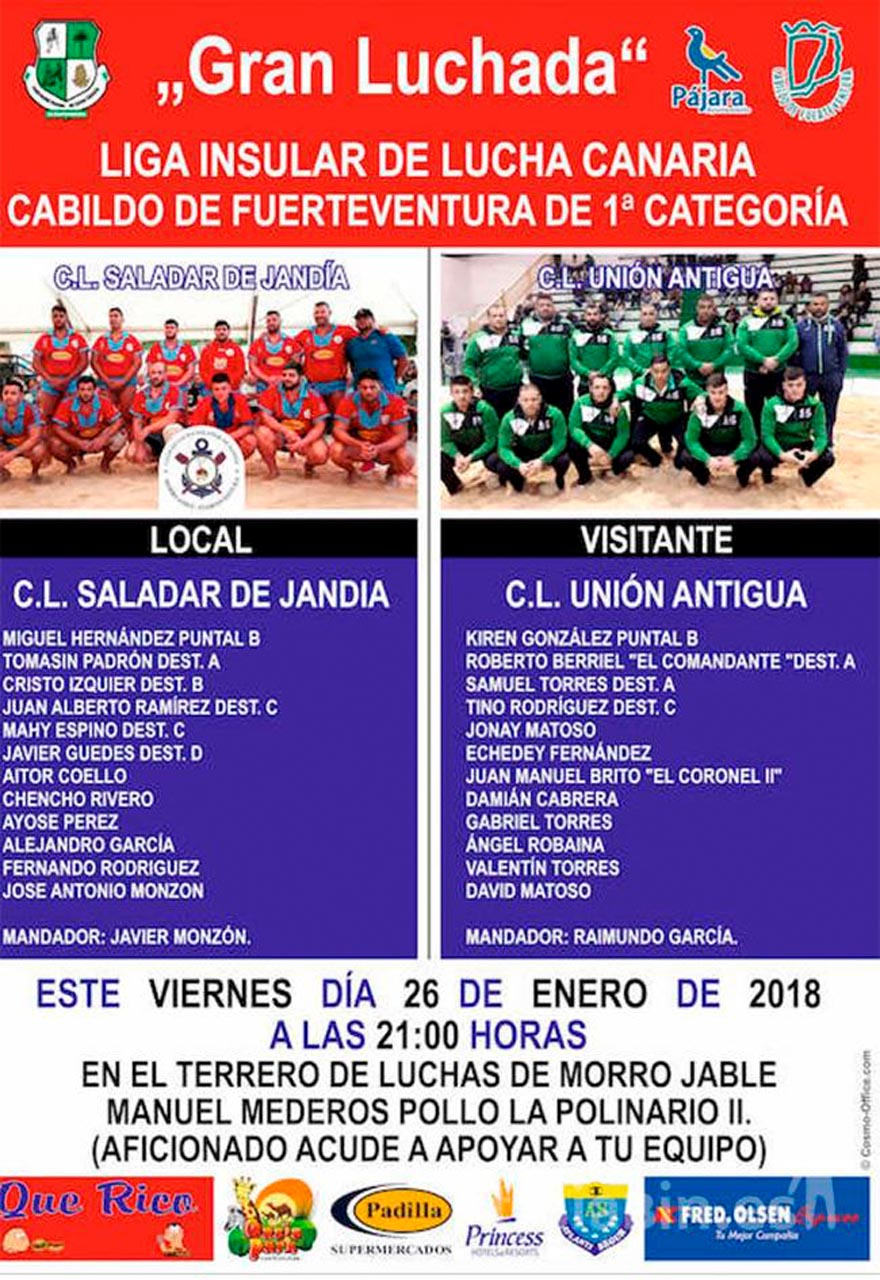 Cartel CL Saladar de Jandía – CLU Antigua