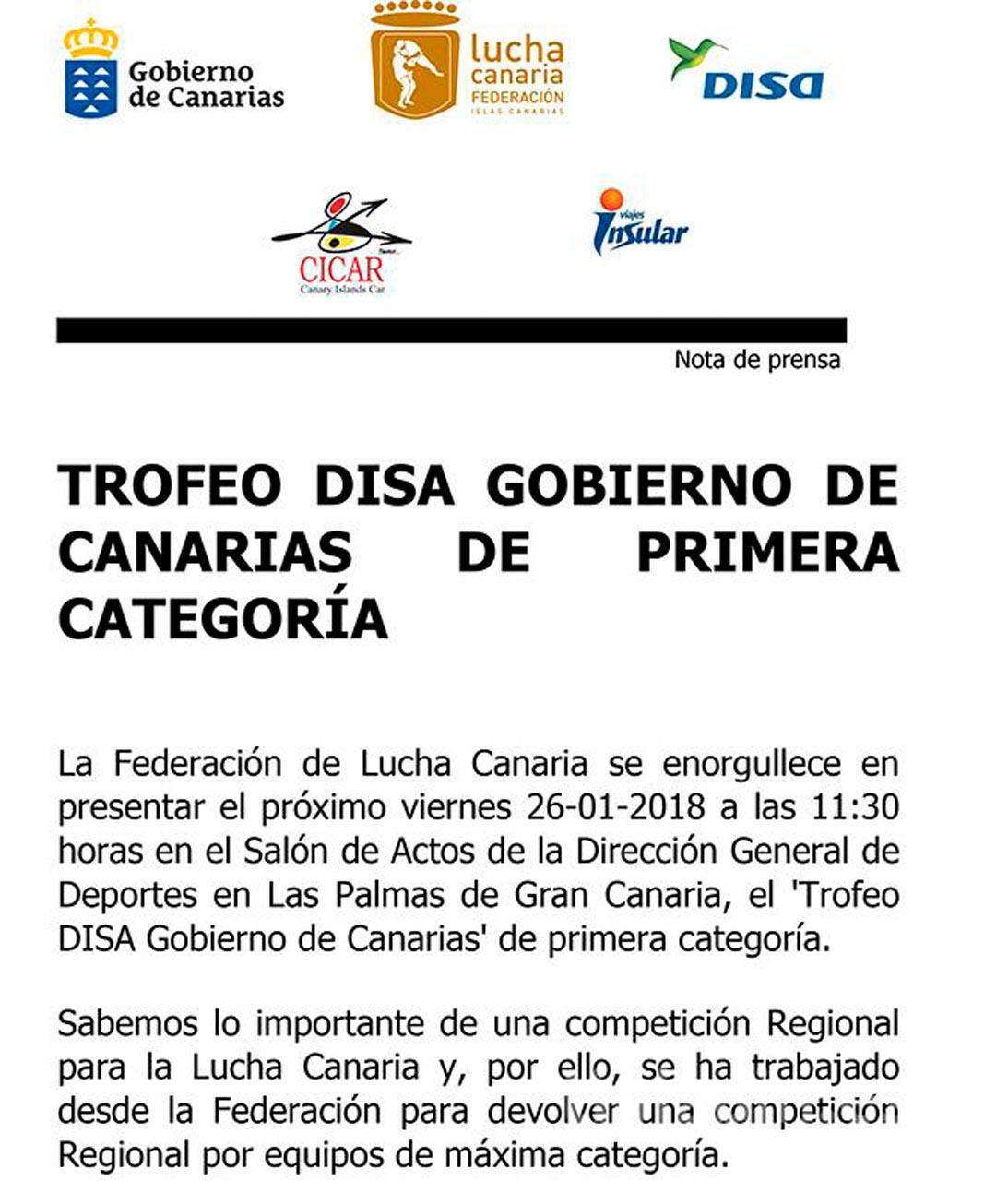 Trofeo Disa Gobierno de Canarias de 1ª Categoría