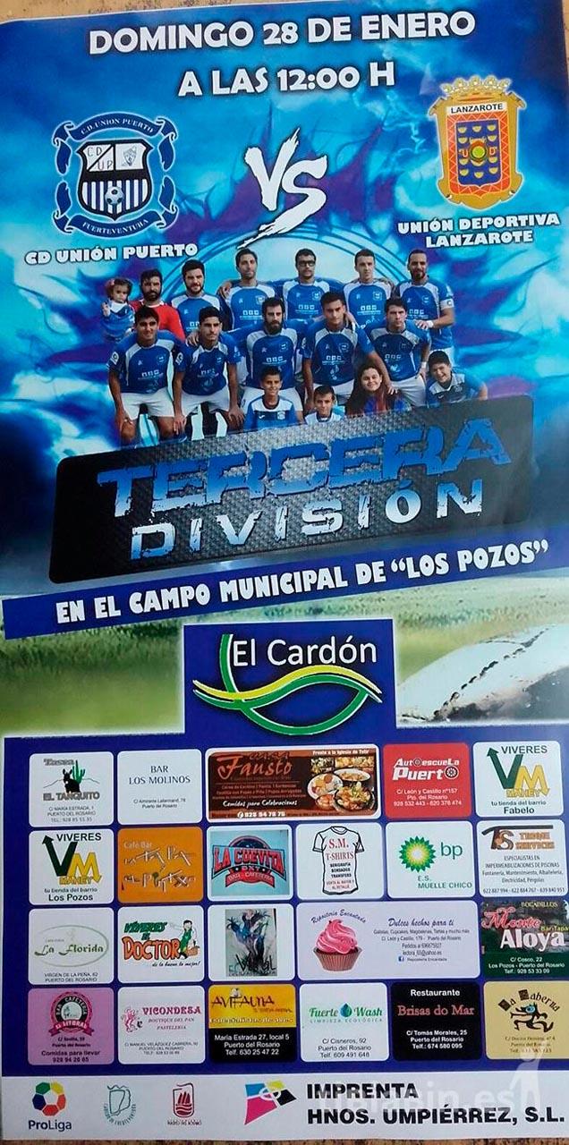 Cartel CD Unión Puerto – UD Lanzarote