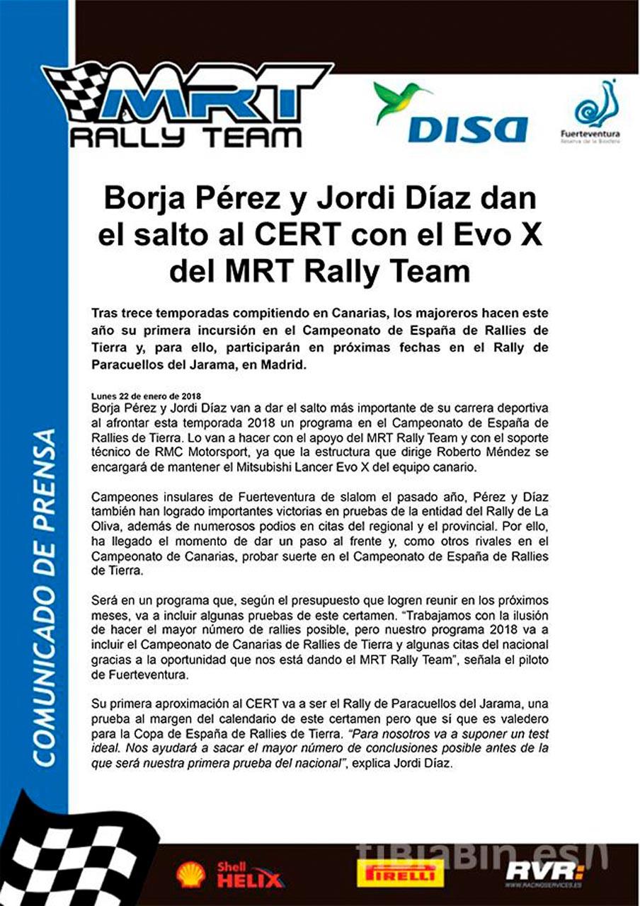 Borja Pérez y Jordi Díaz dan el salto al CERT