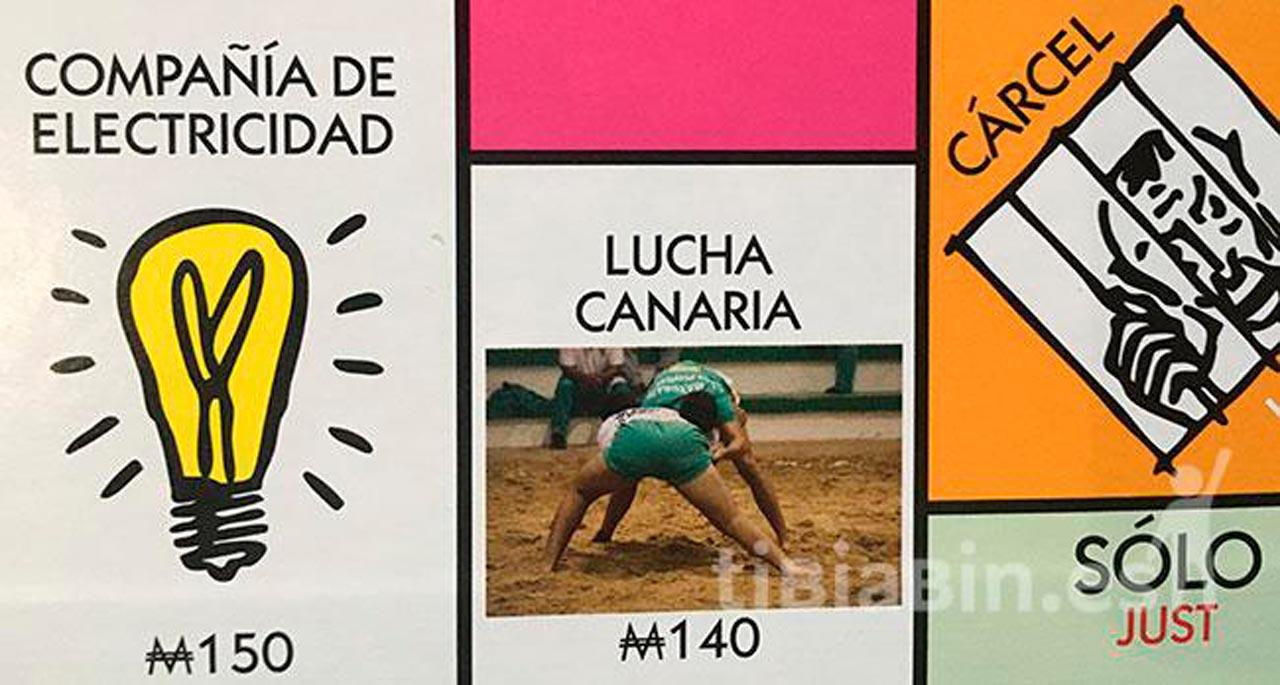 Una foto de tibiabin.es en el Monopoly Edición Canarias