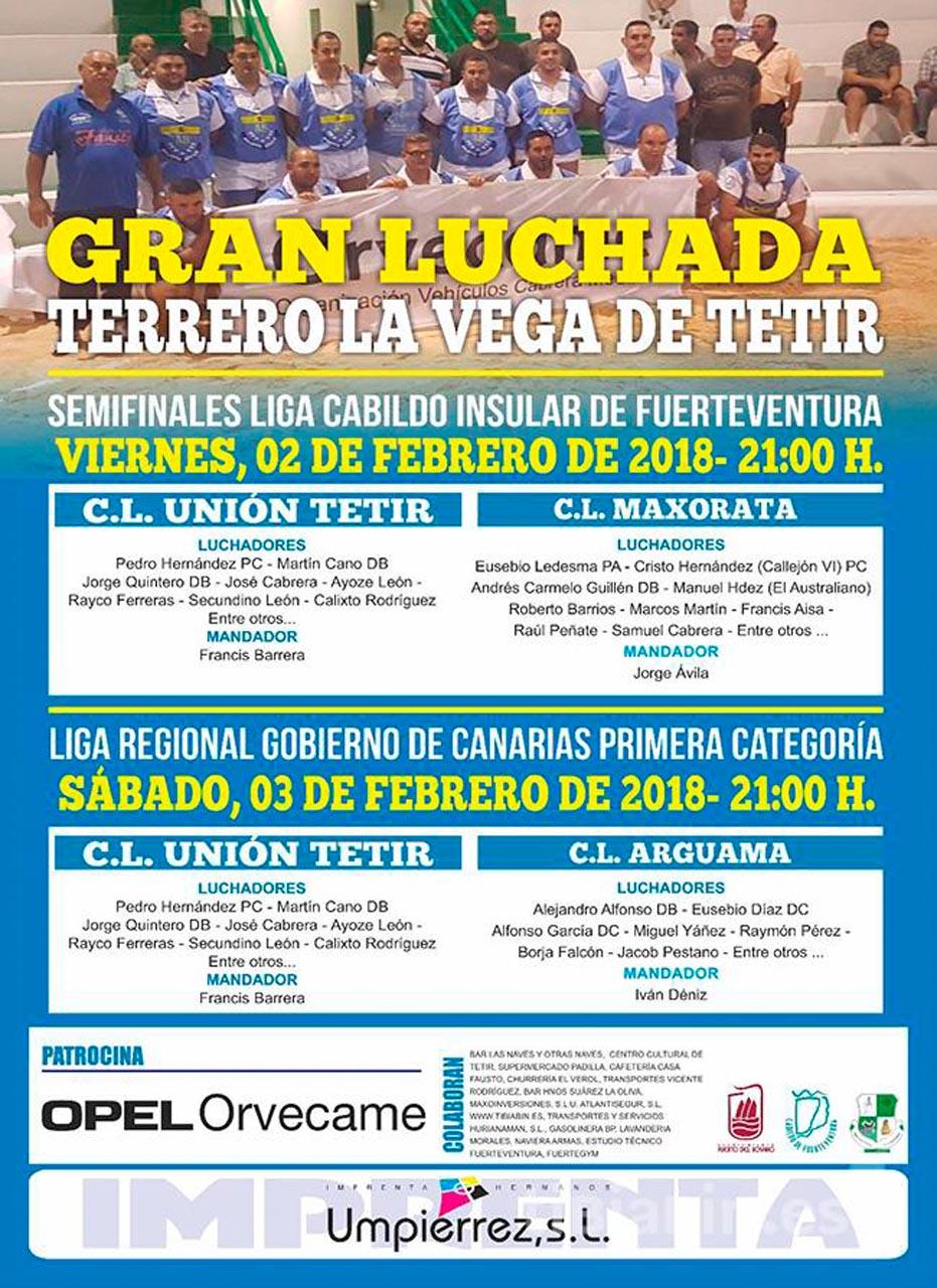 Cartel Unión Tetir – Maxorata; Unión Tetir – Arguama