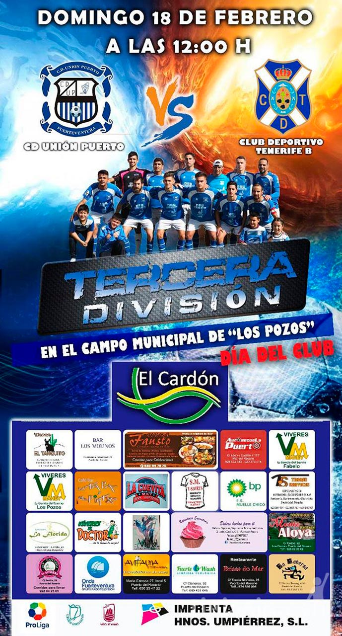 Cartel CD Unión Puerto – CD Tenerife