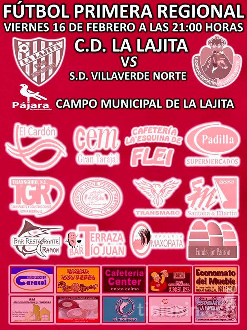 Cartel CD La Lajita – SD Villaverde Norte