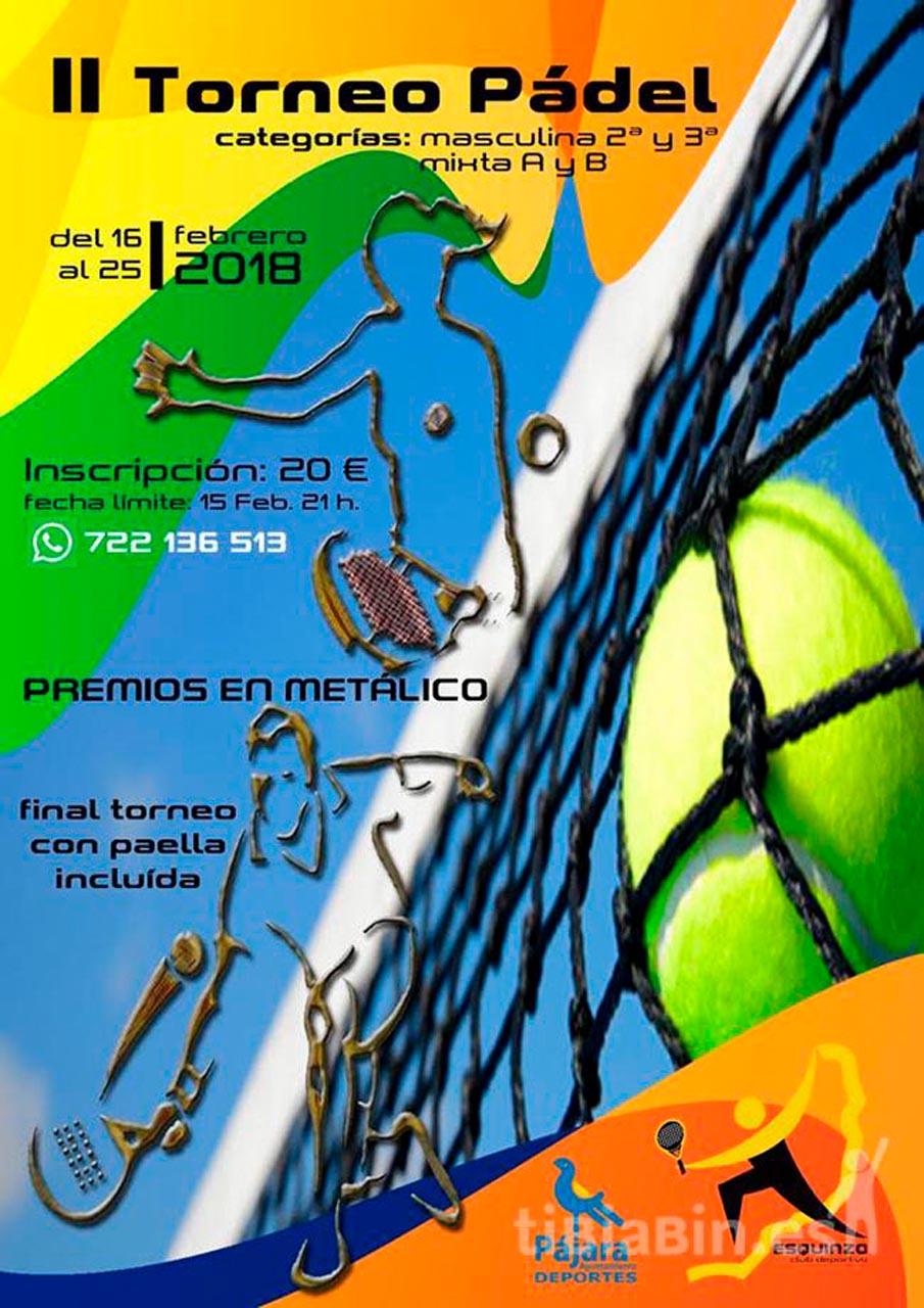 Cartel II Torneo Pádel