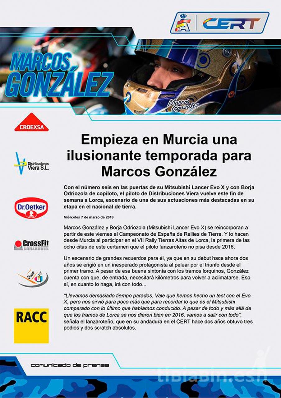 Empieza en Murcia una ilusionante temporada para Marcos González