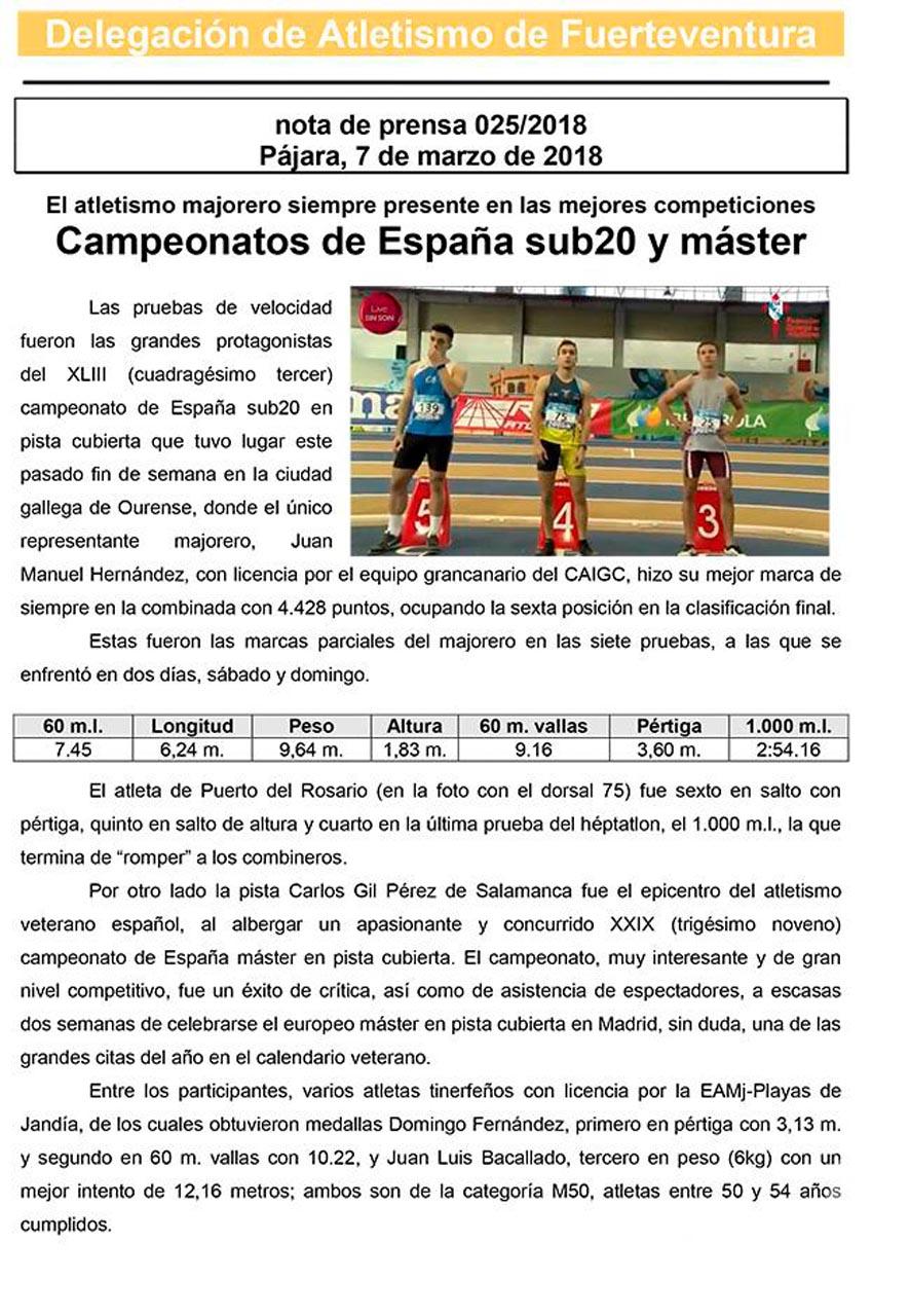 Majoreros en los campeonatos de España