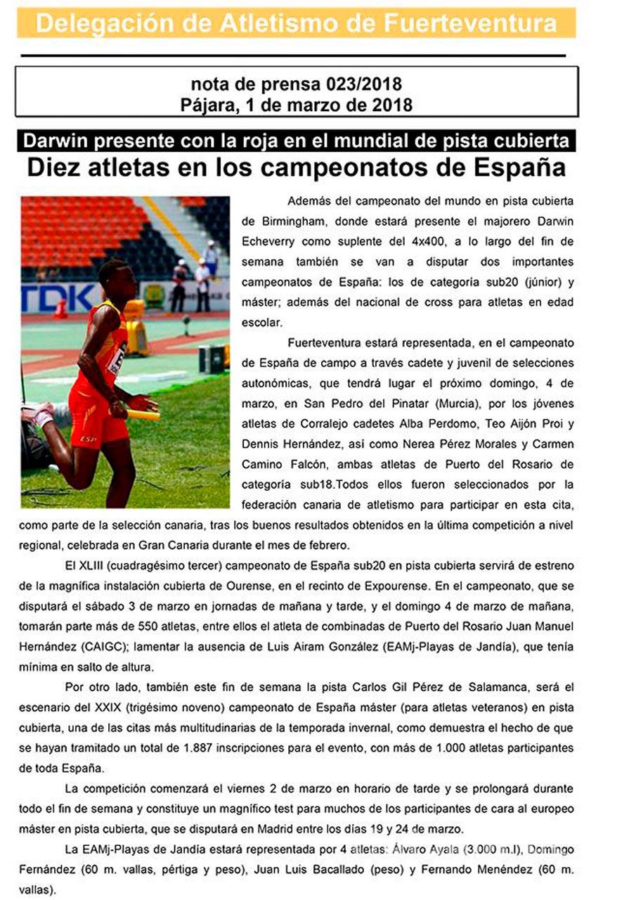 Darwin al mundial y 10 majoreros en los campeonatos de España