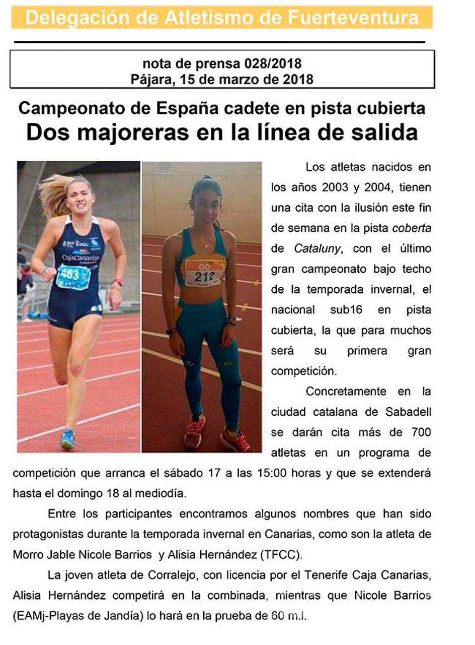 Dos majoreras en el nacional cadete de Sabadell
