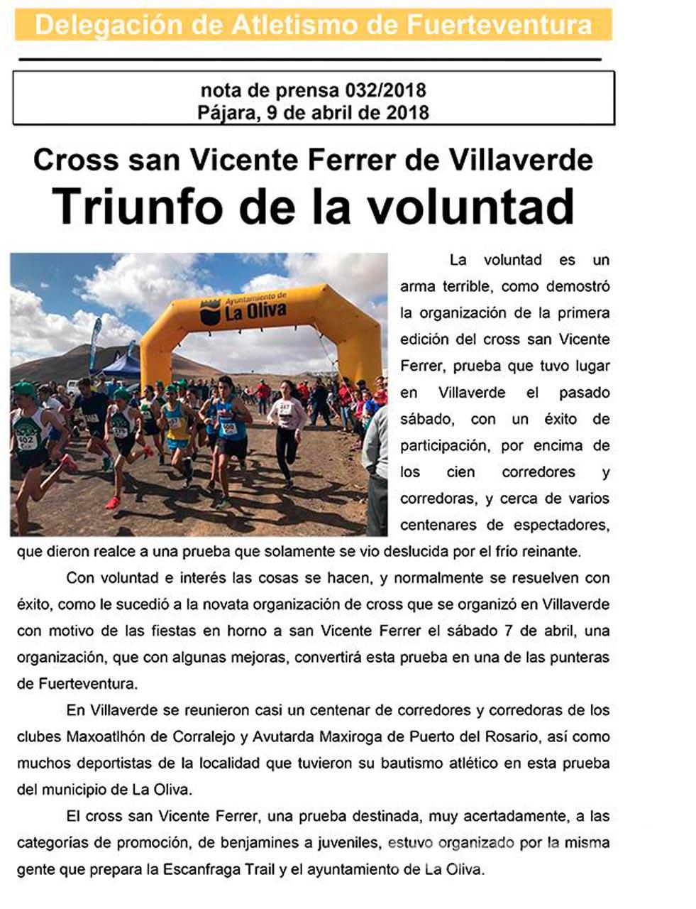 Triunfo de la voluntad en el cross de Villaverde