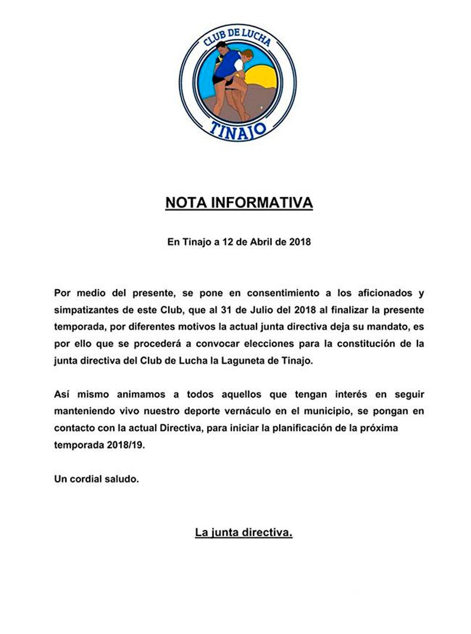 Nota de Prensa CL Tinajo