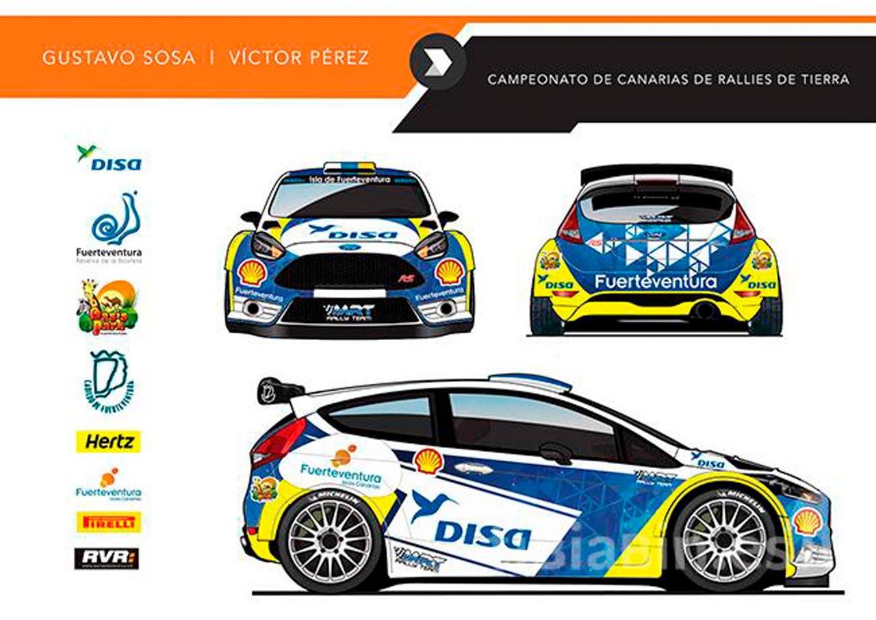 Gustavo Sosa estrena en Canarias el Ford Fiesta R5+
