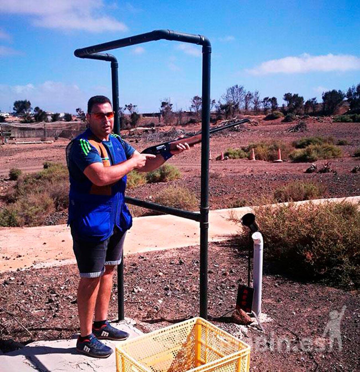 David Parrilla Brito ganador del Campeonato de Fuerteventura de Tiro Compak Sporting